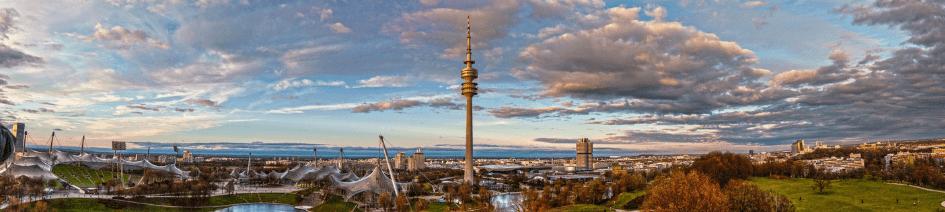 Muenchen Skyline Olympiark - cursos de alemán