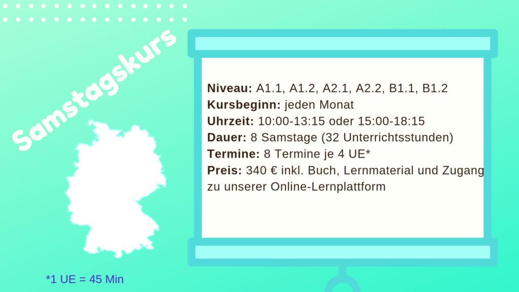 Deutschkurs samstags München Inhalt