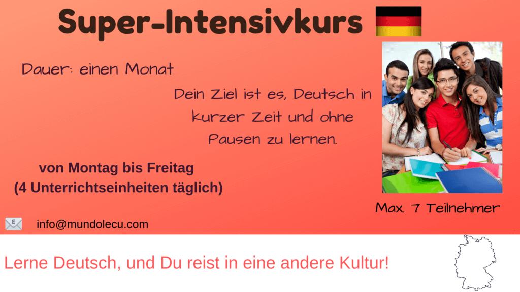 Super-Intensivkurs Deutsch München mundolecu Sprachschule Übersicht