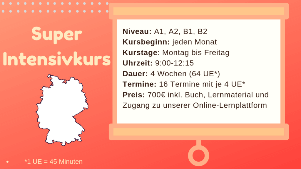 Super-Intensivkurs Deutsch München mundolecu Sprachschule Details