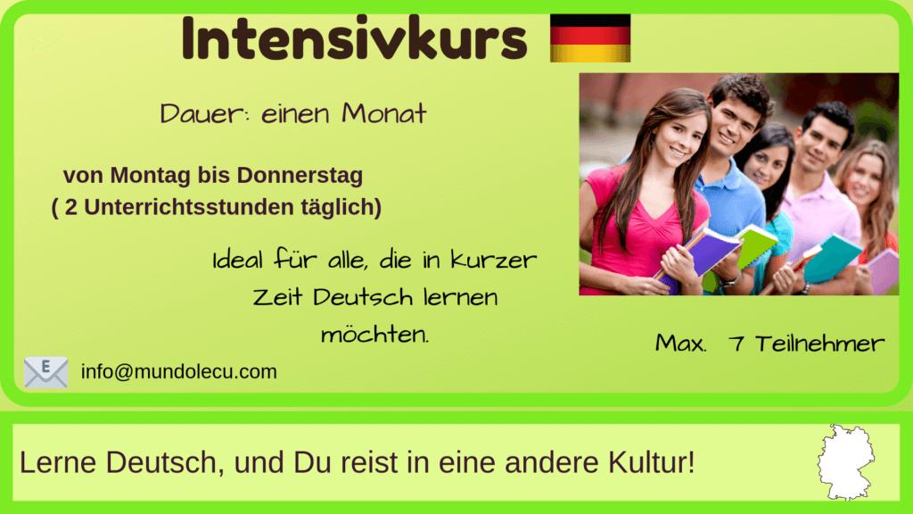 Intensivkurs Deutsch München mundolecu Sprachschule - Übersicht