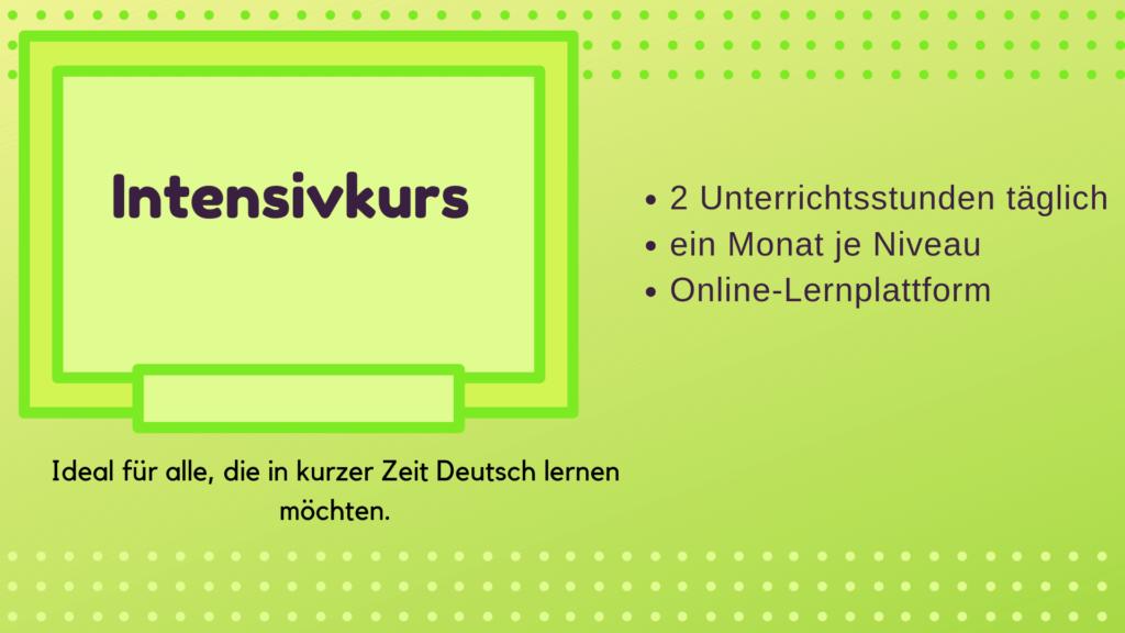Intensivkurs Deutsch München mundolecu Sprachschule - Dauer