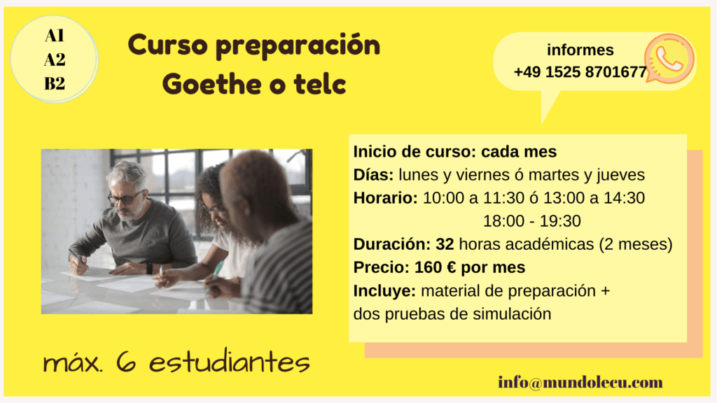 curso telc Goethe Zertifikat