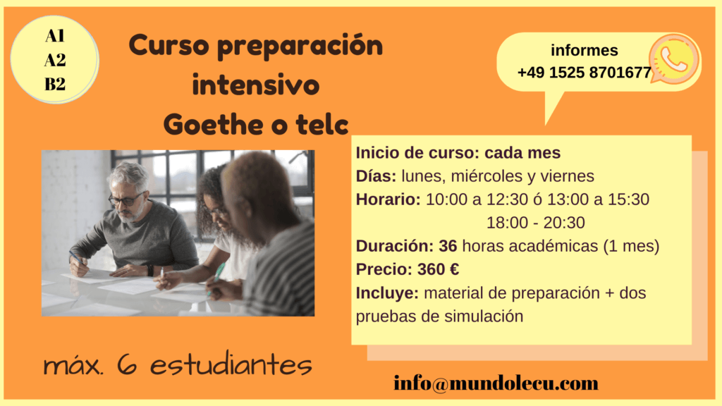 curso telc Goethe Zertifikat intensivo